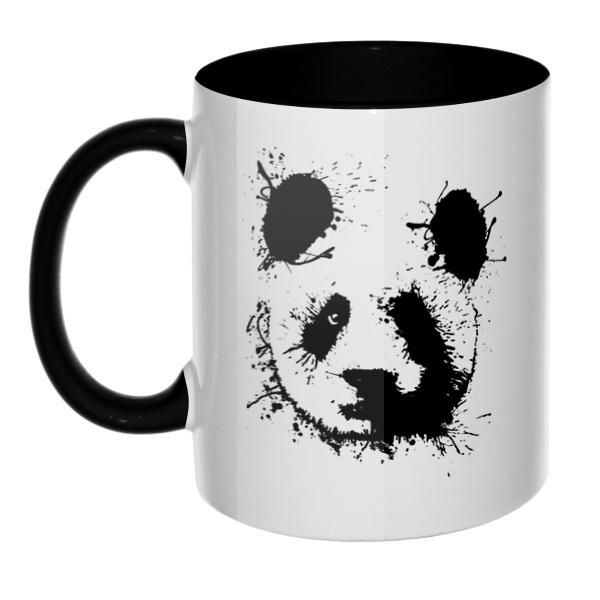 Панда кляксами, кружка цветная внутри и ручка