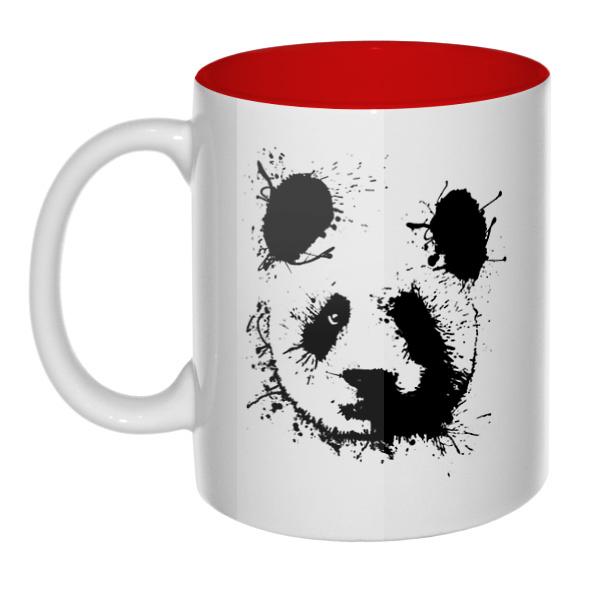 Панда кляксами, кружка цветная внутри