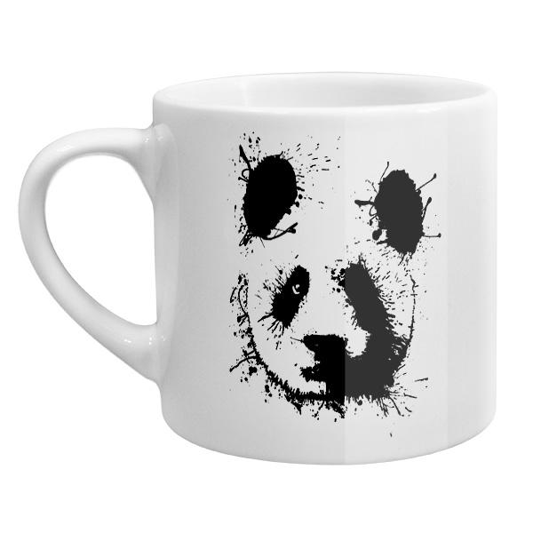 Кофейная чашка Панда кляксами
