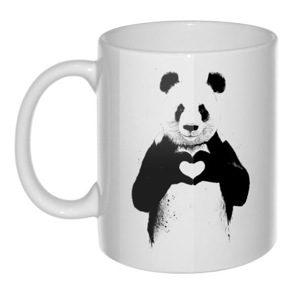 Кружка Панда с сердечком