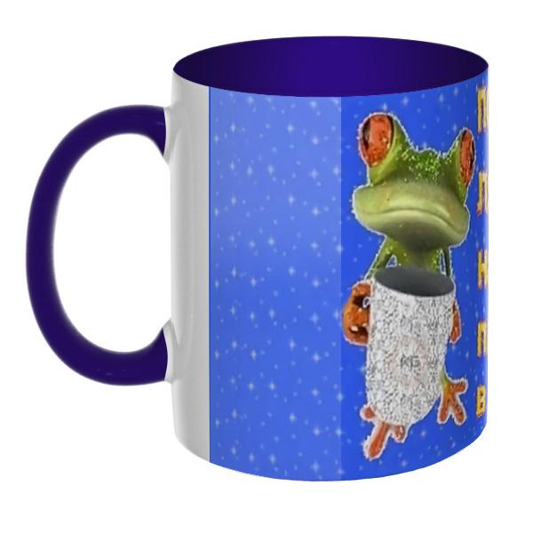 3D-кружка Порадуй лягушку, налей пива в кружку, цветная внутри и ручка