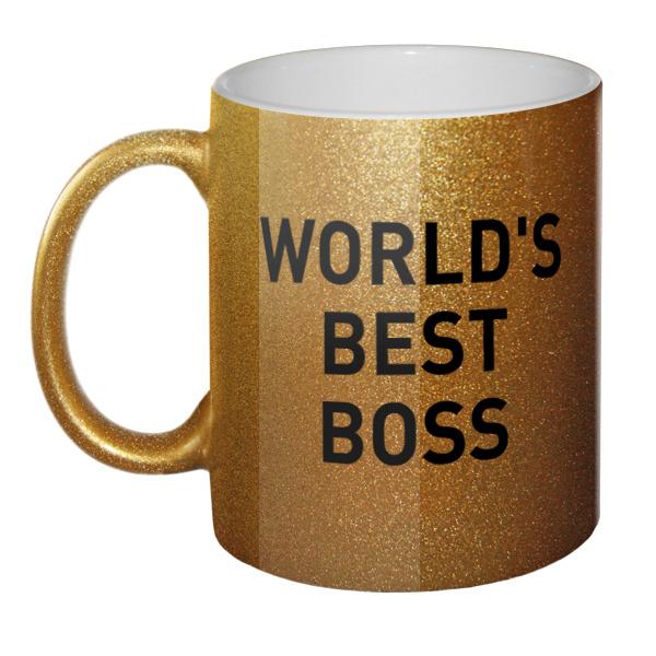 Кружка блестящая World's best boss