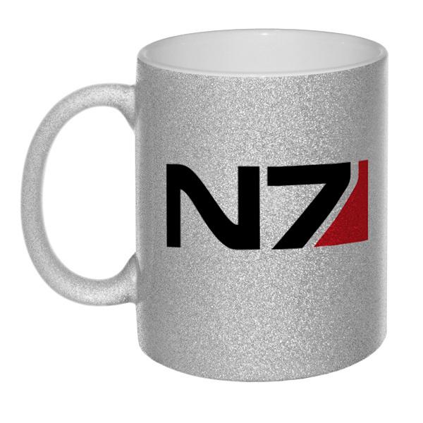 Кружка глиттерная N7