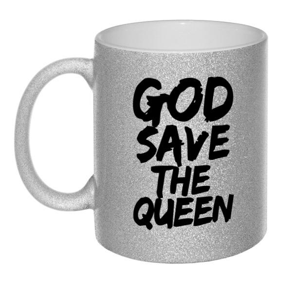 Кружка глиттерная God Save the Queen