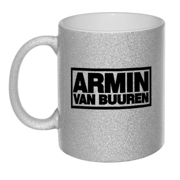 Кружка глиттерная Armin van Buuren