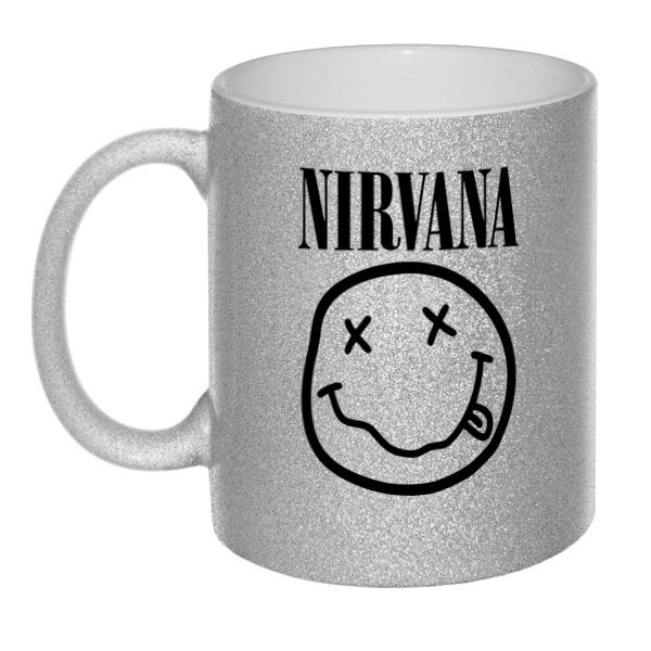 Кружка глиттерная Nirvana